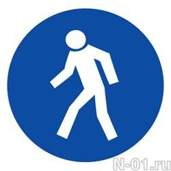 """Предписывающий знак М10 """"Проход здесь"""" - фото 3781"""