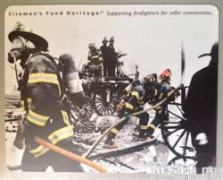 """Коврик для компьютерной мыши """"Пожарные во времени"""" - фото 4488"""