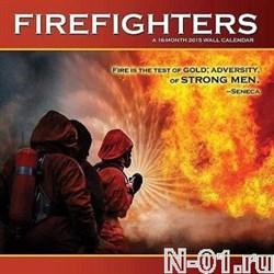 Пожарный настенный перекидной календарь на 2015 год. Пожарные США - фото 4489