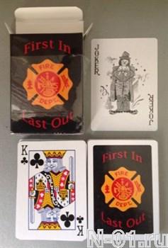Карты игральные пожарные, 54 штуки. - фото 4519