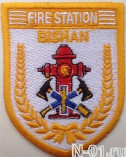 "Нашивка пожарная ""Fire station BISHAN"" - фото 5408"