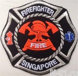 "Нашивка пожарная  ""Firefighter Singapore"" - фото 5410"