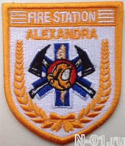 """Нашивка пожарная """"Fire station ALEXANDRA"""" - фото 5412"""
