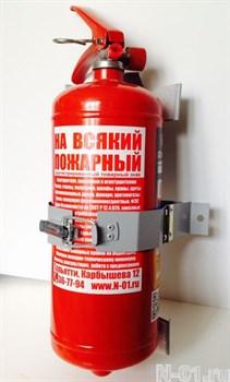 Транспортный кронштейн к огнетушителю ОП-2 с металлической защелкой - фото 6872