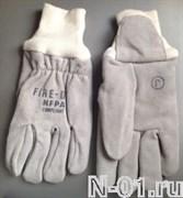 Перчатки пожарные трехслойные. Сертификат NFPA. Размер XXL. (12)
