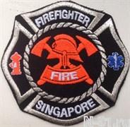 "Нашивка пожарная  ""Firefighter Singapore"""
