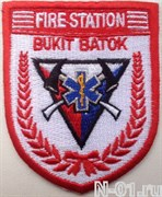 "Нашивка пожарная ""Fire station BUKIT BATOK"" (Сингапур)"