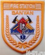 "Нашивка пожарная ""Fire station BANYAN"""