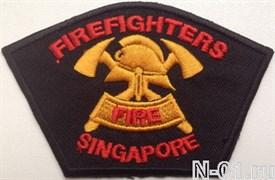 "Нашивка пожарная ""Firefighters Singapore"""