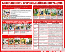 """Баннер-плакат """"Безопасность в чрезвычайных ситуациях"""""""