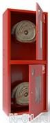 Шкаф навесной металлический для двух комплектов пожарного крана с окнами 321 НОК/НОБ