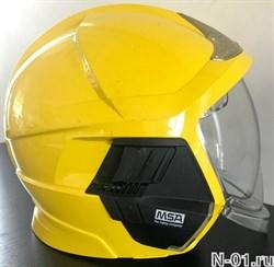 Шлем пожарный MSA Gallet F1XF. Состояние - б/у. Размер M (52-62см)