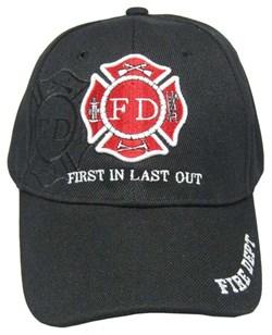 Бейсболка пожарная FIRE DEPT черная