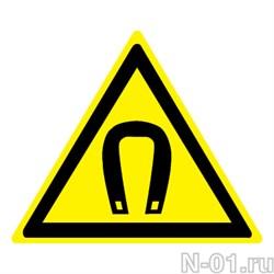 """Предупреждающий знак W13 """"Внимание. Магнитное поле"""" - фото 3747"""