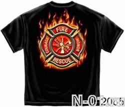 Футболка пожарная, модель 2065, ширина по плечам 53 см - фото 3949