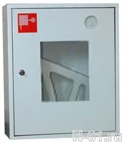 Шкаф для пожарного крана металлический 310 НОБ/НОК (белый/красный) - фото 4261