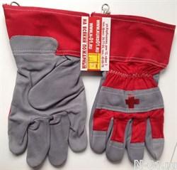 Перчатки для аварийно-спасательных работ. Лёгкие, ладонь - кожа, верх - хлопок. - фото 7372