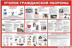 """Стенд 0203 """"Уголок гражданской обороны"""""""