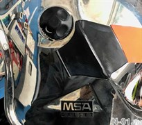 Основа (левая) для крепления зацепов маски на шлем MSA Gallet F1S (SA)