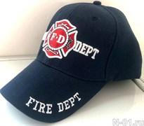 Бейсболка пожарная FIRE DEPT темно-синяя