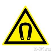 """Предупреждающий знак W13 """"Внимание. Магнитное поле"""""""
