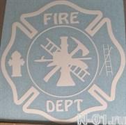 """Наклейка """"Пожарный мальтийский крест"""". Размер 12х12см"""