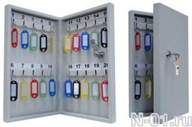 Ключница (шкаф для хранения ключей) на 20 ключей с металлической дверцей (без брелков)