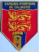 """Нашивка пожарной охраны Франции """"SAPEURS-POMPIERS DU CALVADOS"""""""