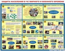 """Стенд 0210 """"Защита населения в ЧС мирного и военного времени"""""""
