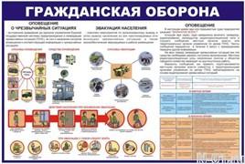 """Стенд 0405 """"Гражданская оборона"""""""